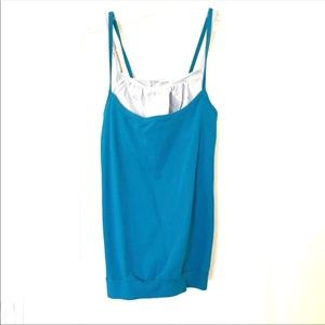 Athleta Organic cotton 2 in 1 tank grey and blue